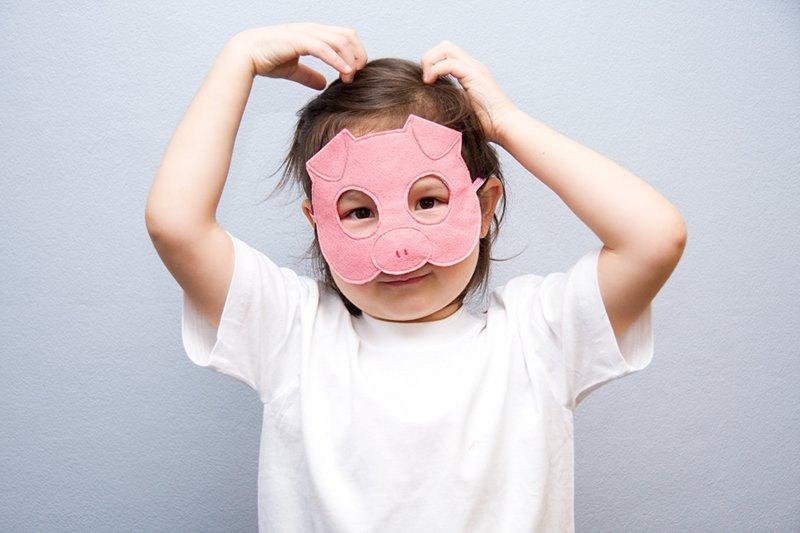maschera bambini