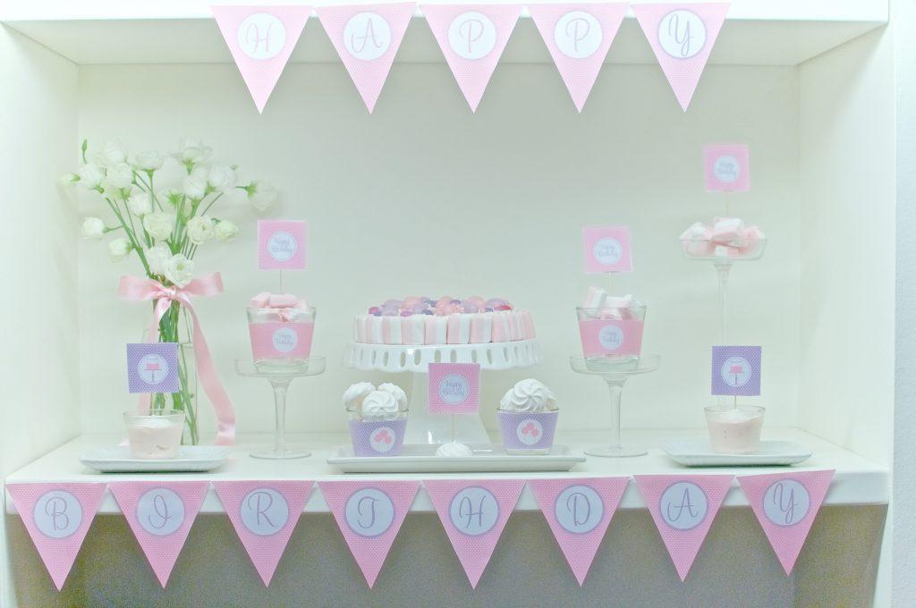 Compleanno in lilla e rosa