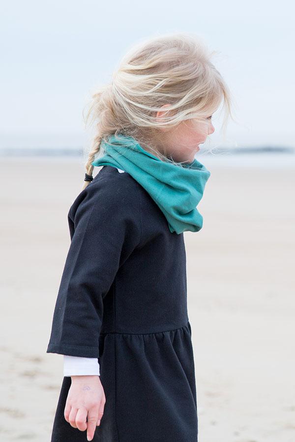 Gray-Label_Campaign_Autumn-Winter_Dress-Nearly-Black_Scarf-Sea-Green