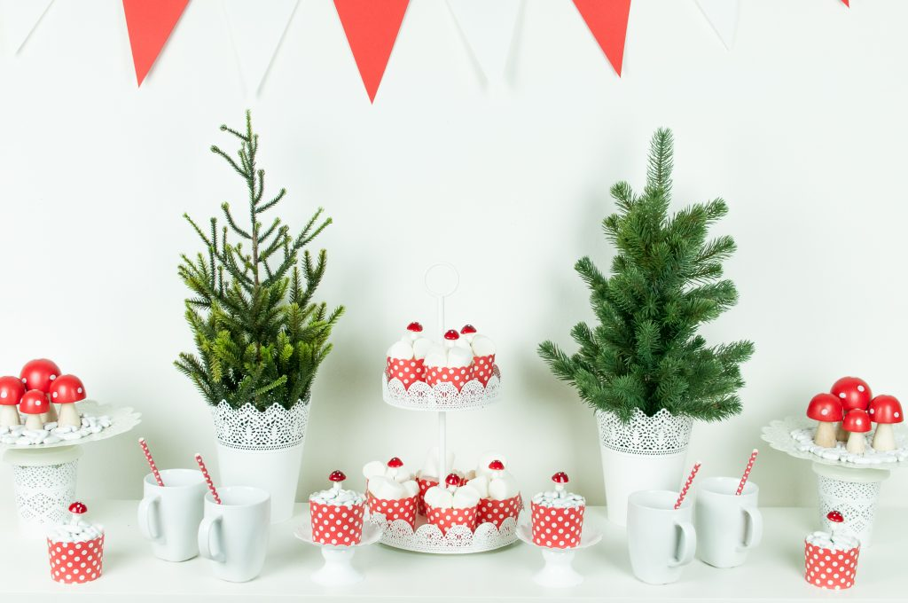 Natale bianco e rosso funghetti-2