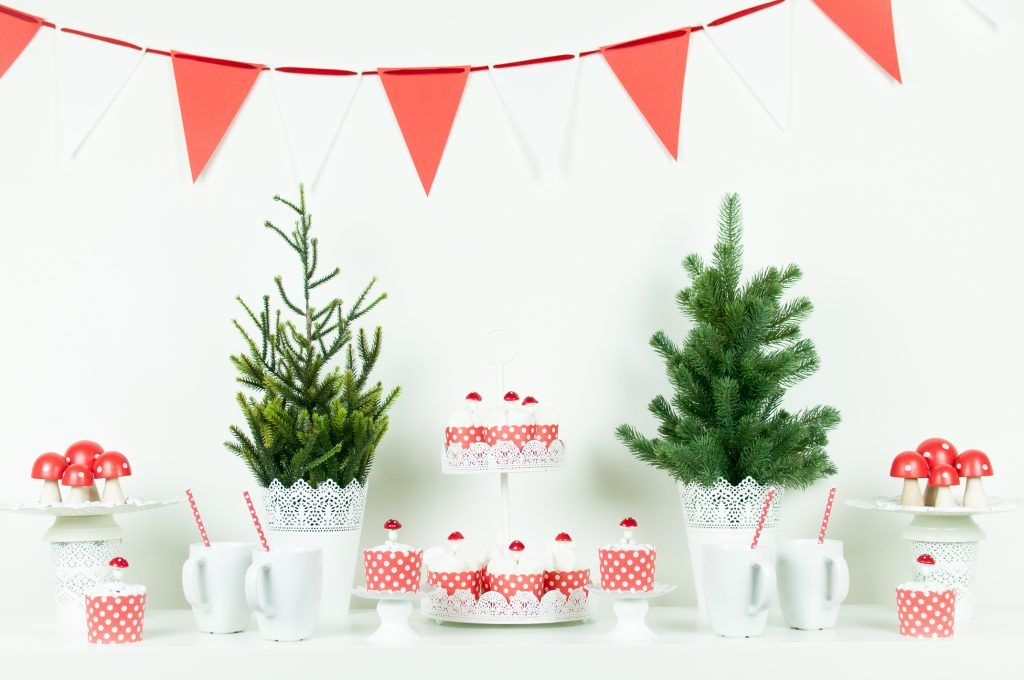 Natale bianco e rosso funghetti 30
