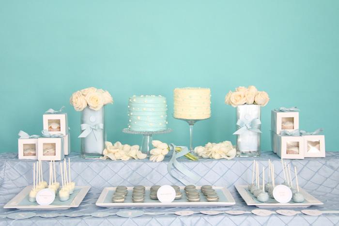 sweet table bianco e azzurro