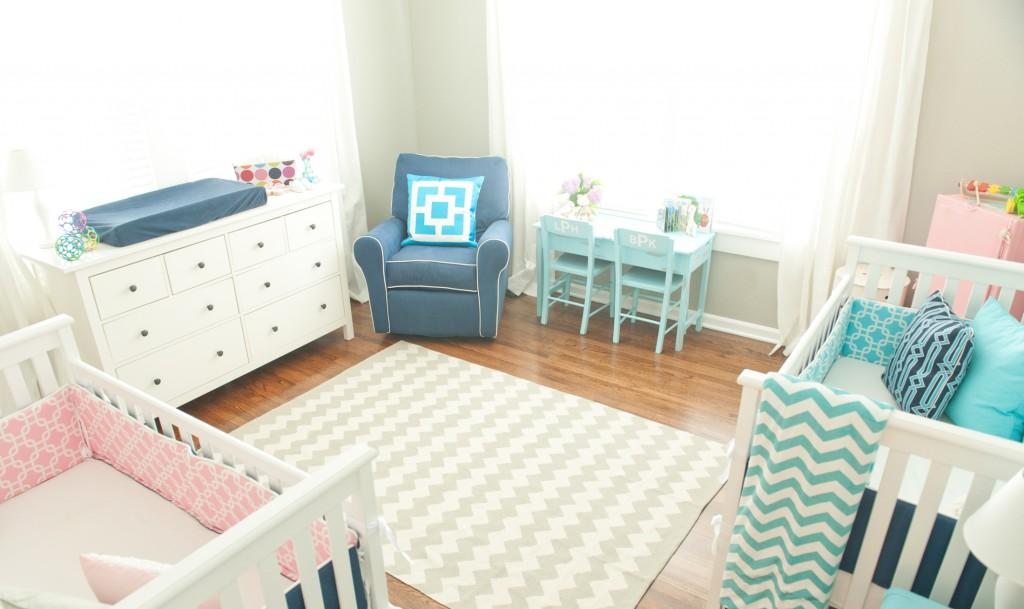 nursery in rosa e azzurro