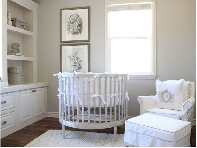 Nursery in stile shabby chic